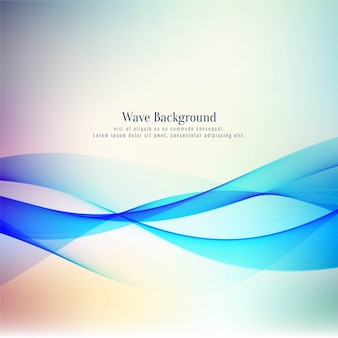Abstract stylish wave design vector background