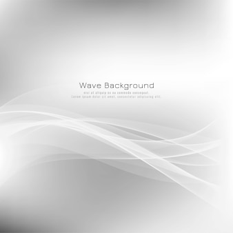 Abstract stylish wave grey background