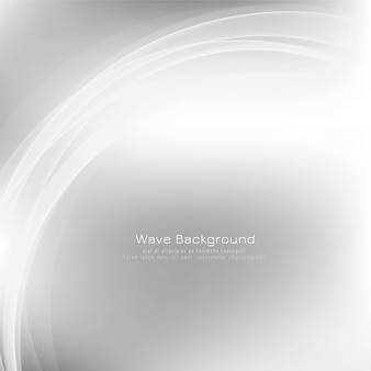 Abstract stylish wave grey