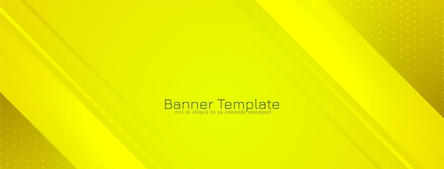 Abstract stylish yellow striped banner background