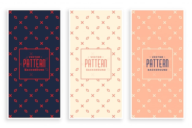 Abstract subtle pattern banners set