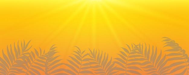 ヤシの葉を持つ抽象的な夏のバナー