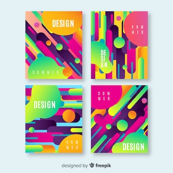 Abstract summer brochure collection