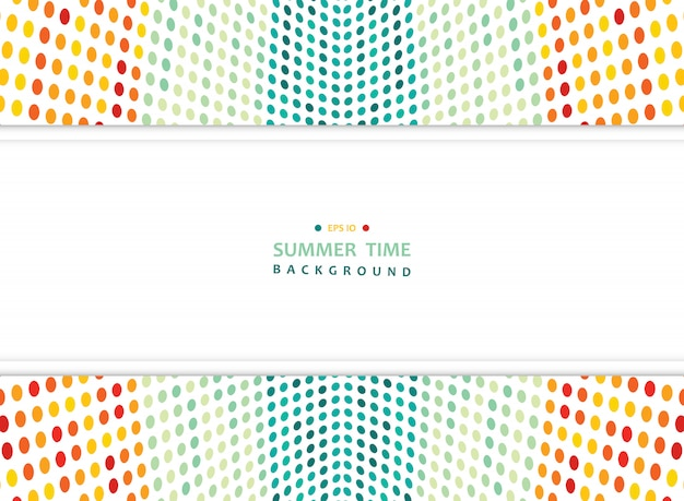 Abstract summer of colorful mesh dots background