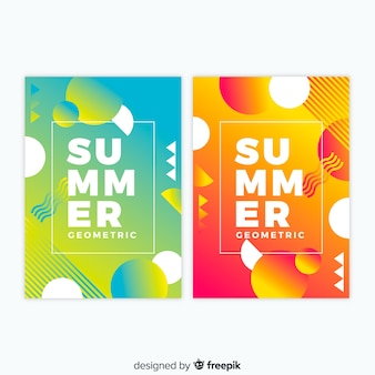 Abstract summer cover collection