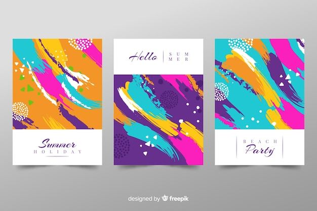 Abstract summer cover template collection