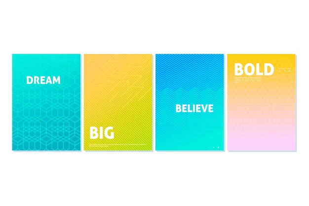 Abstract summer days halftone gradient cover collection