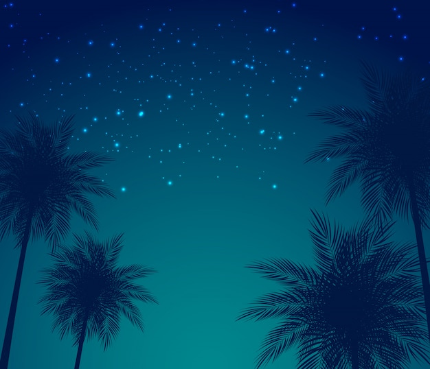 Abstract summer natural palm background vector illustration
