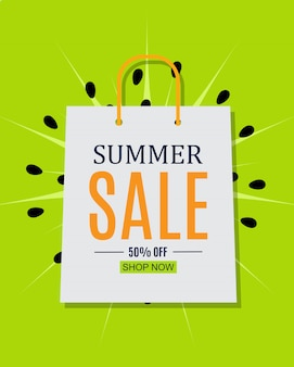 Abstract summer sale background.