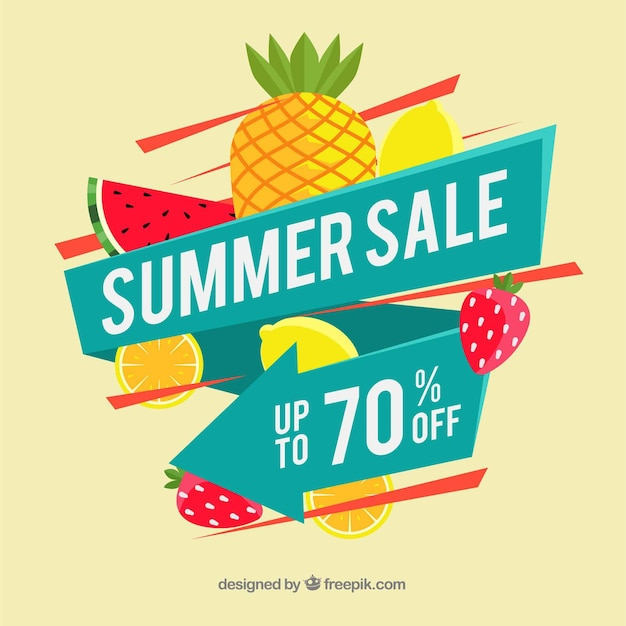 Abstract summer sale background