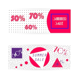 Abstract summer sale banner surprise sale