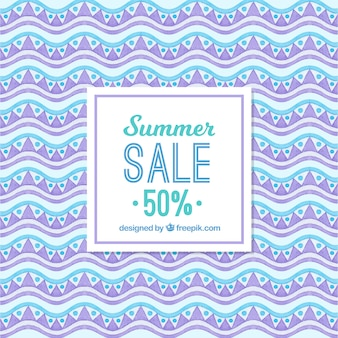Abstract summer sales background in watercolor
