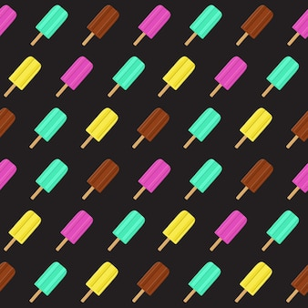 Abstract summer seamless pattern background with ice cream.