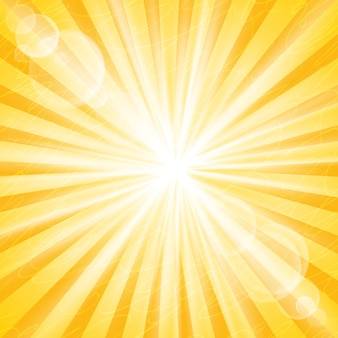 Abstract sun background . divergent rays and glare and modes Premium Vector