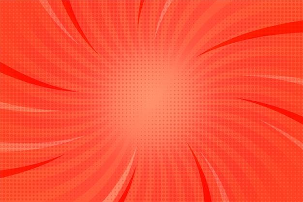 抽象的な太陽光線コミックスタイルの背景