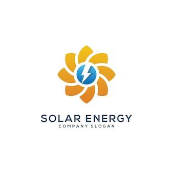 抽象的な太陽太陽enegyロゴテンプレート Premiumベクター