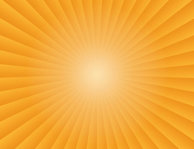 Abstract sunbeams gradient rays in orange background