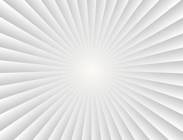 Abstract sunbeams gradient rays in white background