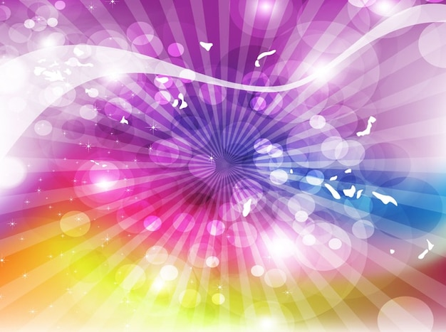 Abstract sunburst colorful background