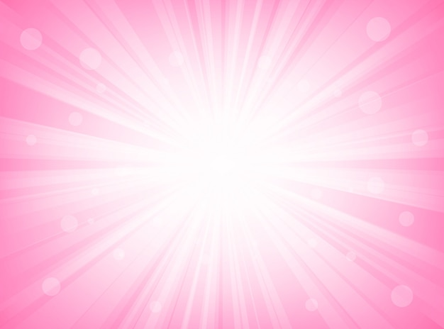 抽象的なサンバーストピンク放射状線背景