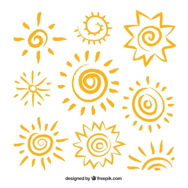 sun vectors photos and psd files free download rh freepik com vector sunset hammock vector sunflower