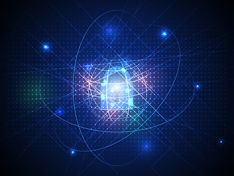 Abstract super high security connection of cyber technology background