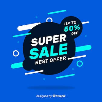 Abstract super sale banner concept