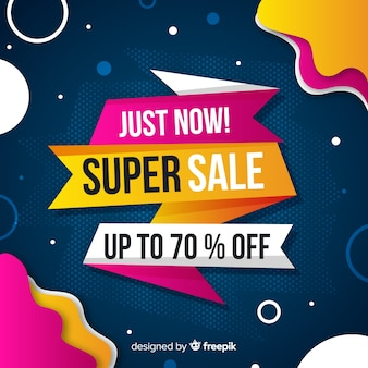 Abstract super sale promotion