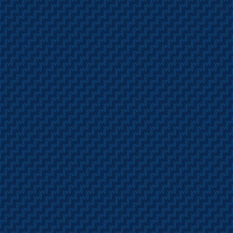 抽象セーターニットパターン青い色の色合いとシームレスな編み物のテクスチャ