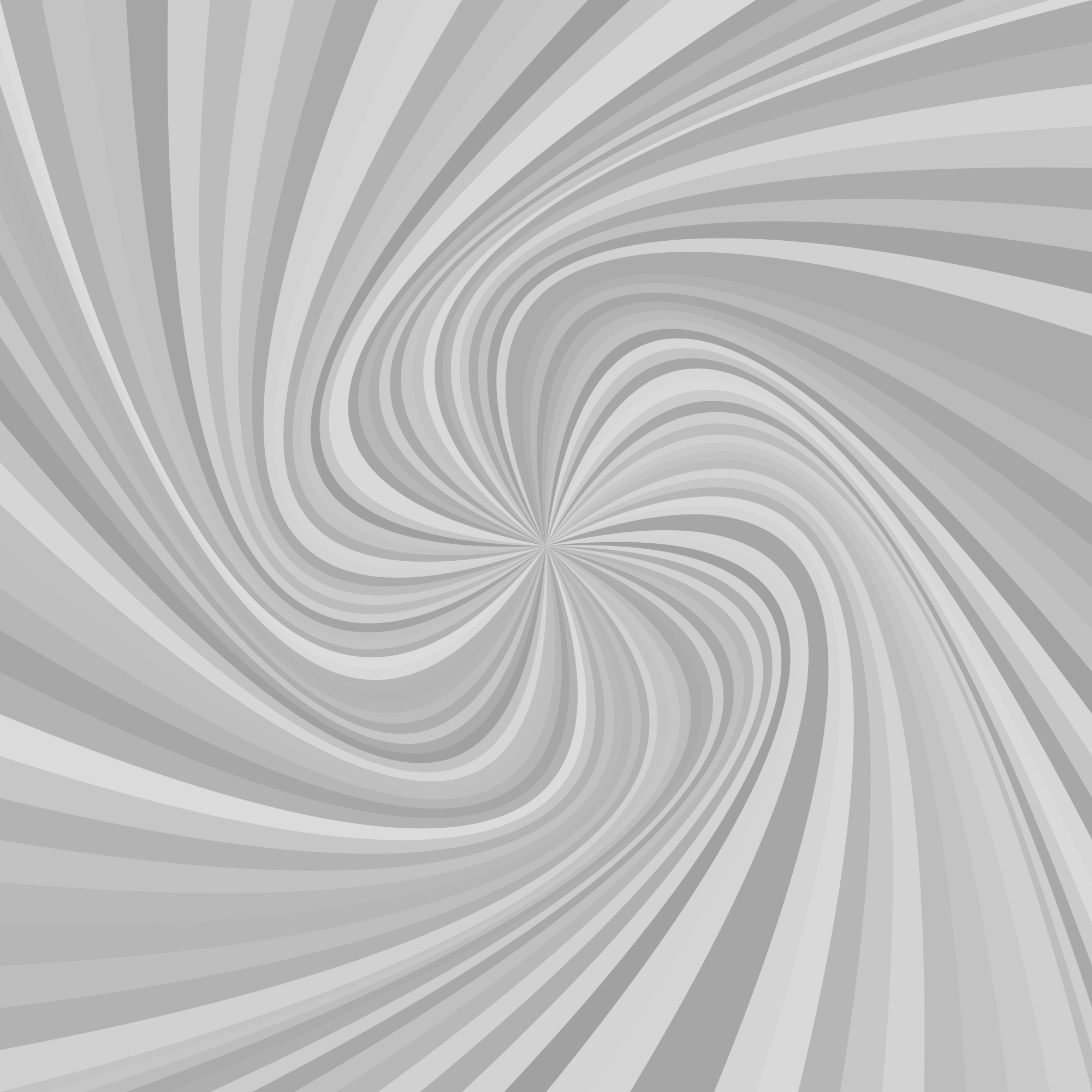 Abstract swirl background - vector illustration from rotated rays in grey tones