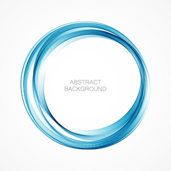 Abstract swirl energy circle blue element  wave