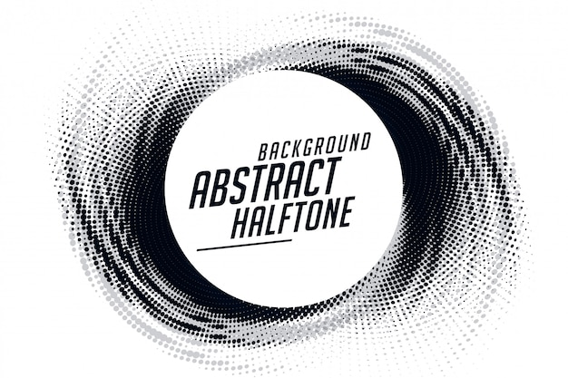 Abstract swirl grunge halftone pattern frame background