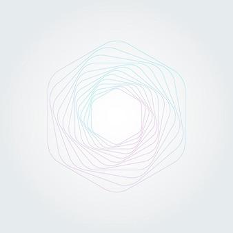 Abstract swirl hexagon vortex structure.
