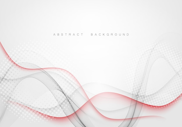 Abstract swoosh wave lines elegant background