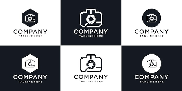 Abstract symbol for a photo studio in a simple minimalistic style logo