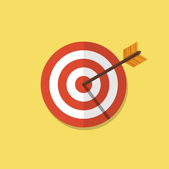 Abstract target flat illustration
