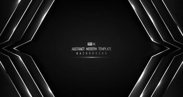 キラキラデザインの背景を持つグラデーションブラック高級の抽象的なハイテクデザイン。