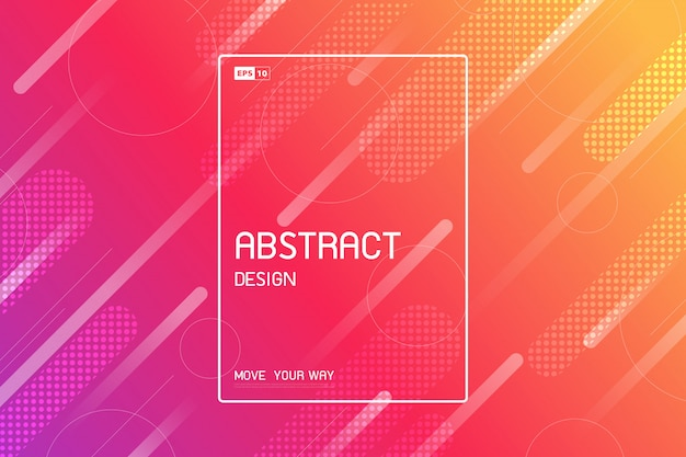 Abstract tech design of trendy stripe lines artwork background.