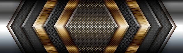 소재 레이어 블랙 배경으로 추상 기술 그라데이션 매트 골드