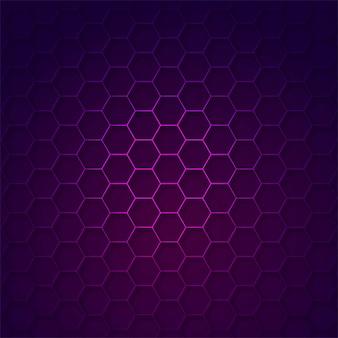 Abstract tech hexagon vector