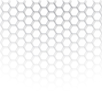Abstract tech hexagon vector
