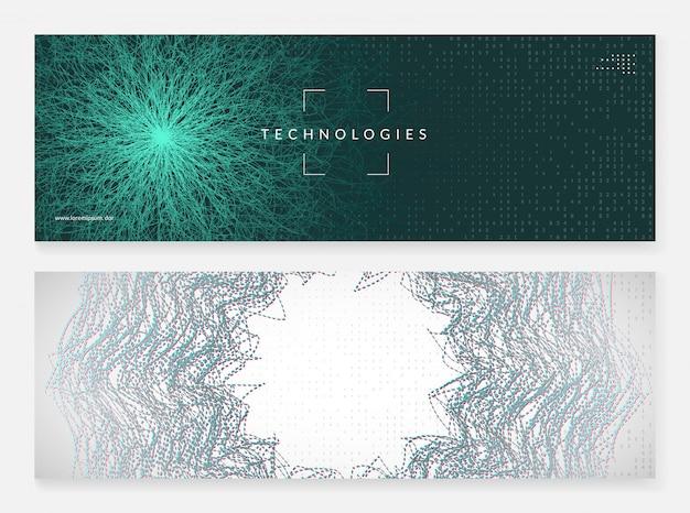 Абстрактные технические визуальные эффекты. цифровая технология