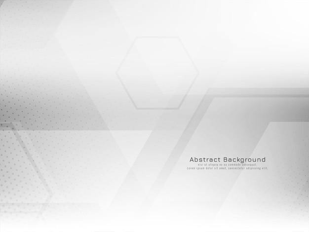 抽象的なテクノ幾何学的な六角形スタイルの白い背景ベクトル