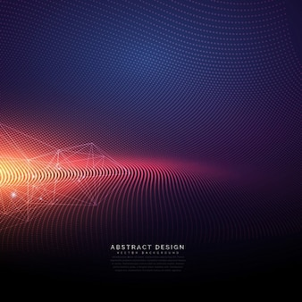 Abstract technological background with light effect