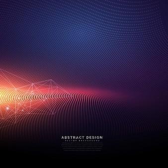 光効果を持つ抽象的な技術の背景