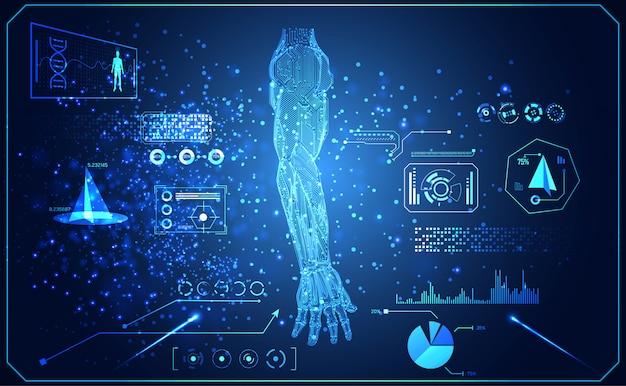 Abstract technology ai arm digital