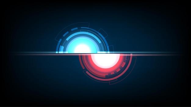 抽象的な技術背景サークル デジタル ハイテク技術。