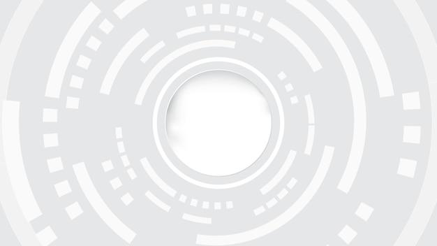Абстрактные технологии фон круг геометрия украшения, наука и техника цифровая линия белый фон