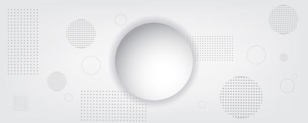 추상적 인 기술 배경 원 기하학 장식