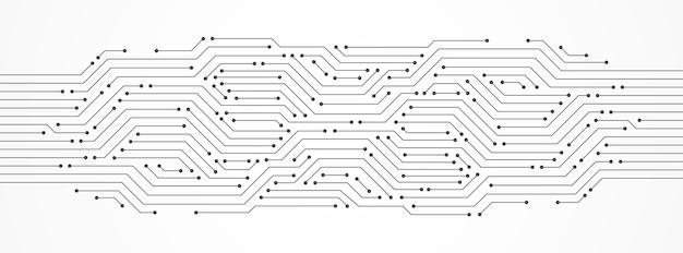 추상 기술 배경, 회로 기판, 마이크로칩